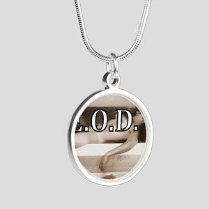 DEATHREDOEDIT-1 Silver Round Necklace