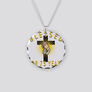 Blessed75 Necklace Circle Charm
