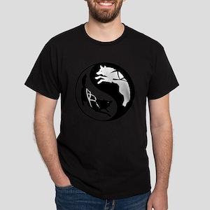 yin_yang_dogs Dark T-Shirt