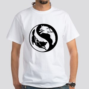 yin_yang_dogs White T-Shirt
