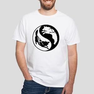 yin_yang_dogs White T-Shirt