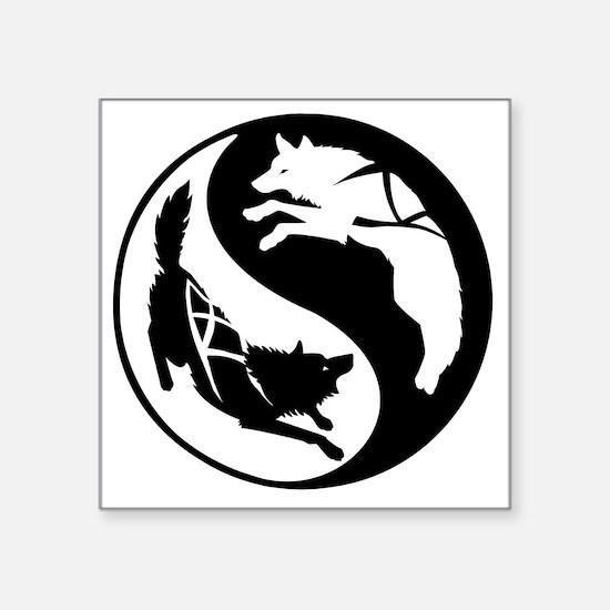 "yin_yang_dogs Square Sticker 3"" x 3"""