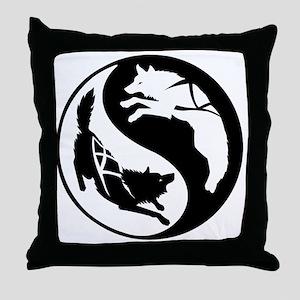 yin_yang_dogs Throw Pillow