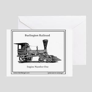 X-RR Burl Engine 1 mousepad Greeting Card