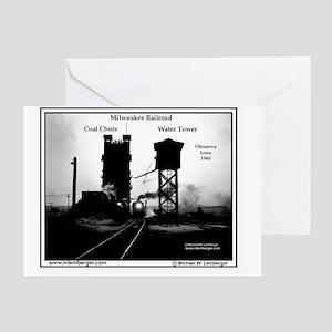 X-RR Milwaukee Coal Chute-mousepad Greeting Card