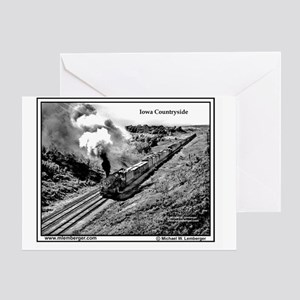 X-RR Steam Eng- Iowa Countryside mou Greeting Card