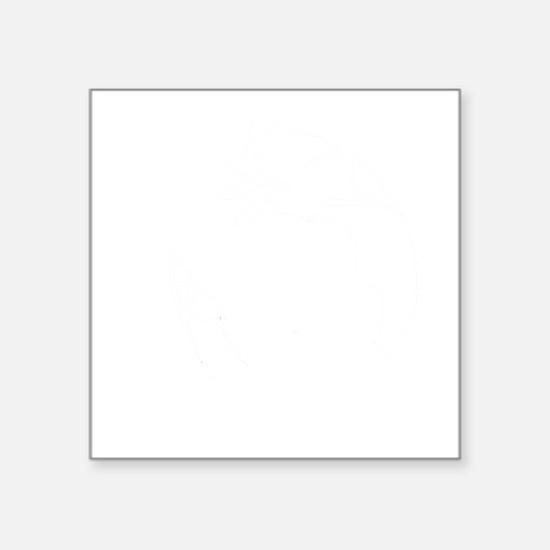 "yin_yang_dogs3 Square Sticker 3"" x 3"""