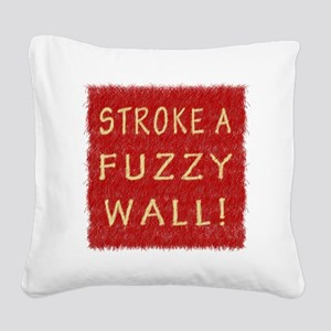 Fuzzy Wall RY Square Canvas Pillow