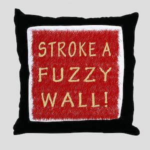 Fuzzy Wall RY Throw Pillow