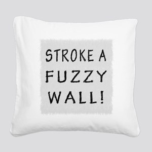 Fuzzy Wall WB Square Canvas Pillow