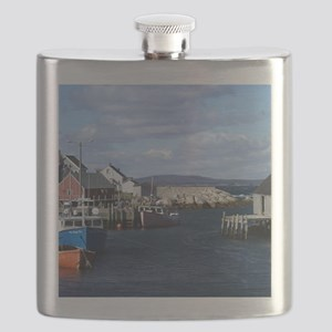 Fishing Village at Peggys Cove Flask