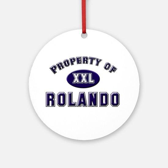 Property of rolando Ornament (Round)