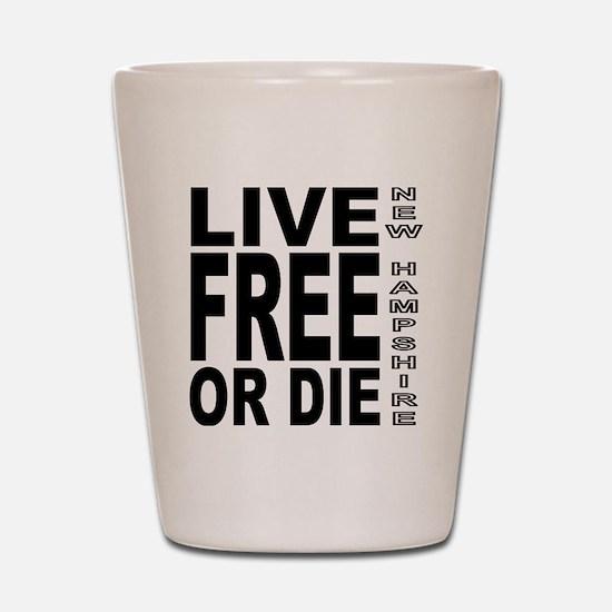 LiveFreeorDieBlack Shot Glass