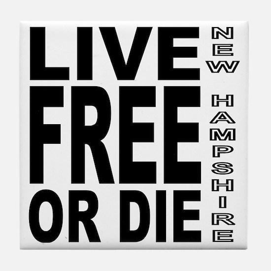 LiveFreeorDieBlack Tile Coaster
