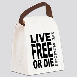 LiveFreeorDieBlack Canvas Lunch Bag
