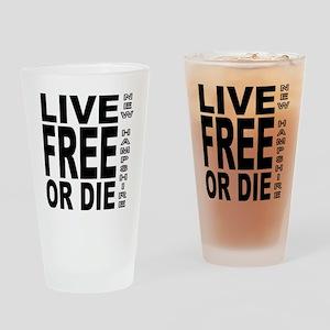 LiveFreeorDieBlack Drinking Glass