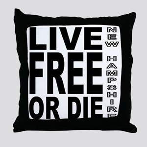 LiveFreeorDieBlack Throw Pillow