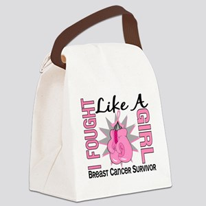 - Breast Cancer Fought Like a Gir Canvas Lunch Bag