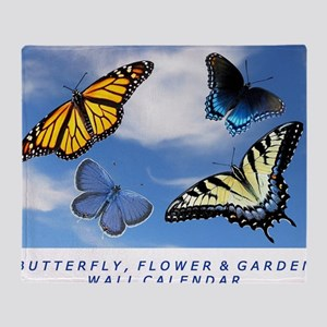 Butterfly Calendar, Calendar Cover 2 Throw Blanket