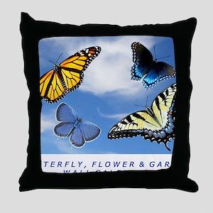 Butterfly Calendar, Calendar Cover 20 Throw Pillow