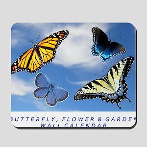 Butterfly Calendar, Calendar Cover 2012 Mousepad
