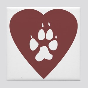 heart_pawprint Tile Coaster