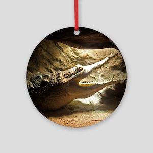 Orinoco Crocodile Round Ornament