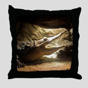 Orinoco Crocodile Throw Pillow