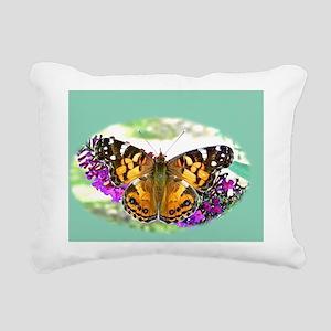American Painted Lady Bu Rectangular Canvas Pillow