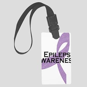 epilepsy awareness Large Luggage Tag