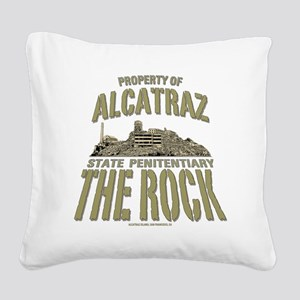 PROPERTY OF THE ROCK Square Canvas Pillow
