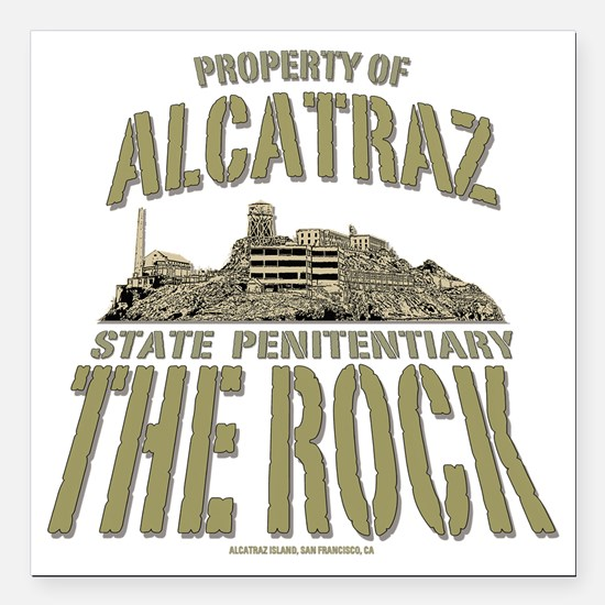 "PROPERTY OF THE ROCK Square Car Magnet 3"" x 3"""