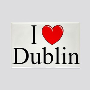 """I Love Dublin"" Rectangle Magnet"