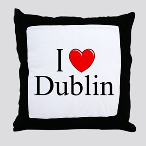 """I Love Dublin"" Throw Pillow"
