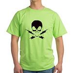 Lightning Bolt Pirate Bright Green T-Shirt