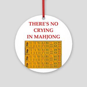 mahjong gfts Ornament (Round)