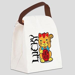 luckycat3 Canvas Lunch Bag