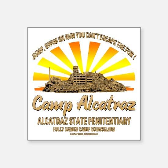 """CAMP_ALCATRAZ Square Sticker 3"""" x 3"""""""