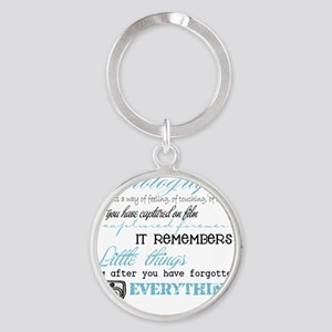 Photography Round Keychain