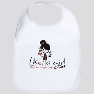 Science ~ Like a girl! Baby Bib