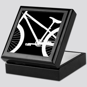 Black and White Bike Keepsake Box