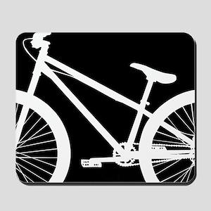 Black and White Bike Mousepad