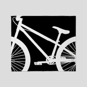 Black and White Bike Throw Blanket