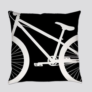 Black and White Bike Everyday Pillow