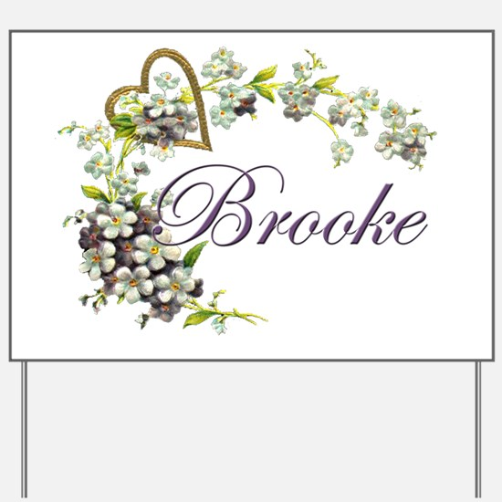 heart with flowers Brooke Yard Sign