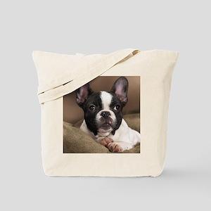 F pup panel print Tote Bag