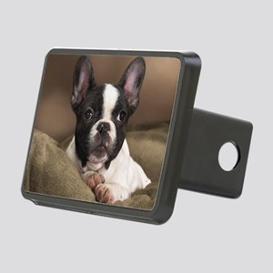 F pup panel print Rectangular Hitch Cover