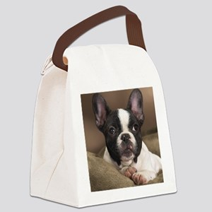 F pup panel print Canvas Lunch Bag