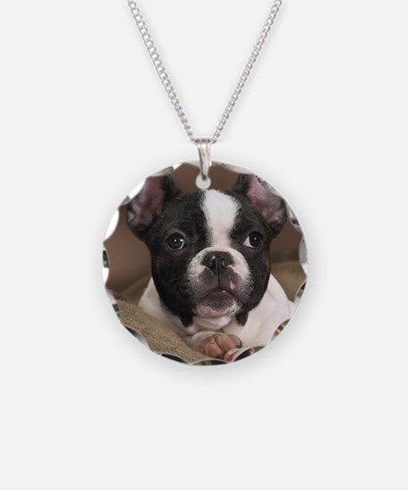 F pup panel print Necklace