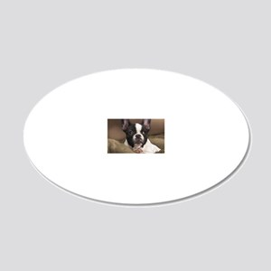 F pup panel print 20x12 Oval Wall Decal